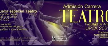 Teatro UPLA abre convocatoria para proceso de Admisión 2021