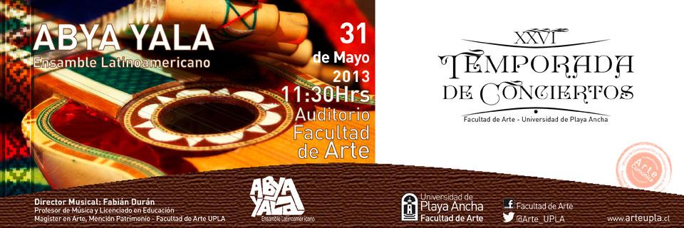 Abya Yala se presenta en la XXVI Temporada de Conciertos de la UPLA
