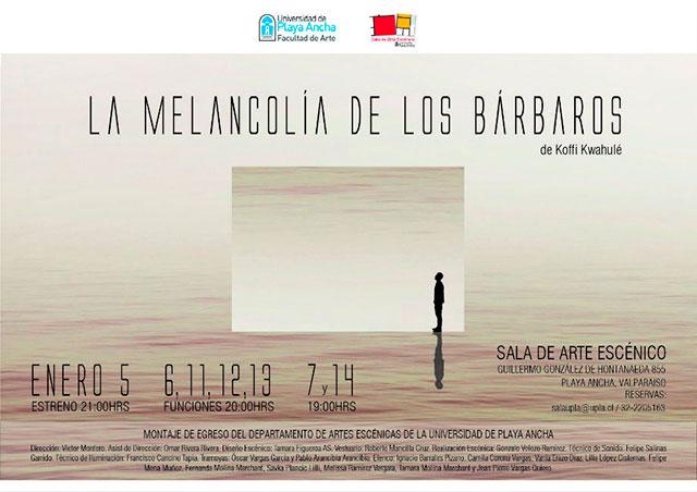 """Afiche """"La melancolía de los bárbaros"""""""