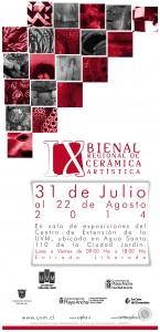 Afiche IX Bienal de Ceramica Artística