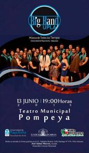 Afiche Big Band en Villa Alemana
