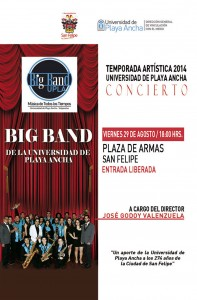 Afiche Big Band San Felipe