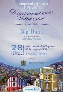 Afiche Big Band UPLA