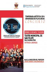 Afiche Big Band en Temporada Artística