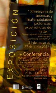Afiche charla Manuel Concha