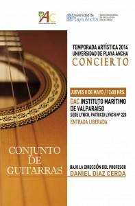 Afiche presentación Conjunto de Guitarras
