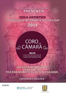 Afiche Coro de Cámara TMV-2014