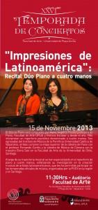 Afiche presentación Dúo de Piano