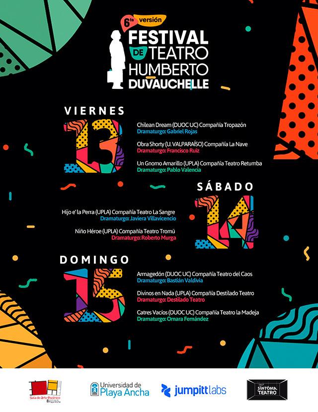 Afiche 6º Festival Humberto Duvauchelle