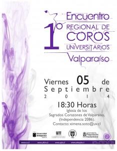Afiche 1er Encuentro Regional de Coros Universitarios