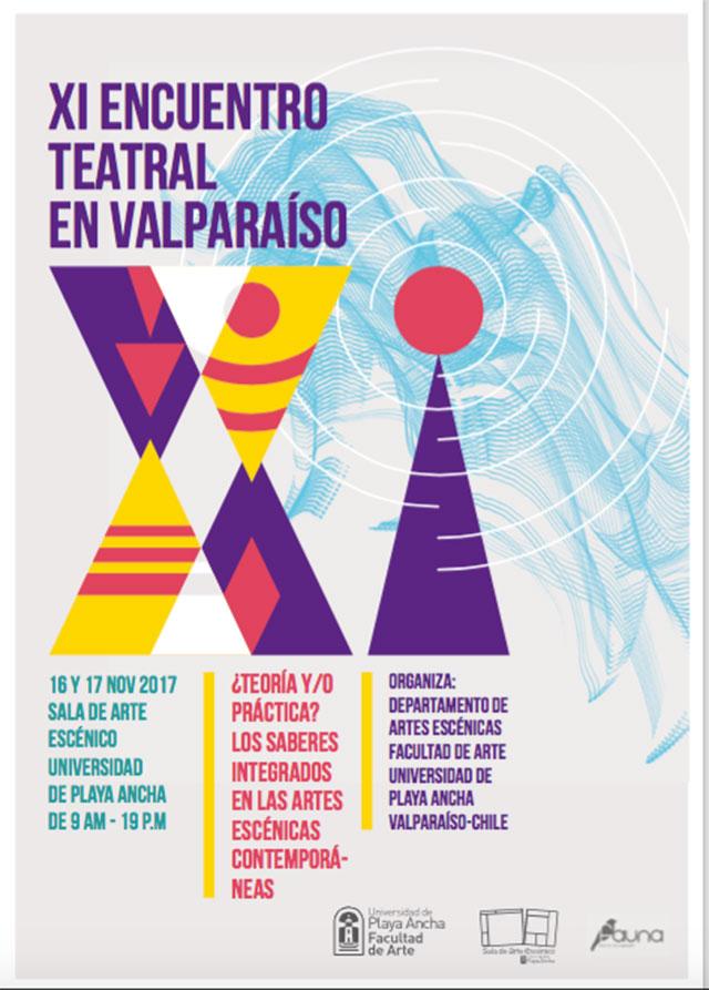 """Afiche """"XI Encuentro Teatral en Valparaíso"""""""