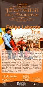 Afiche Felipe Laborde Trío