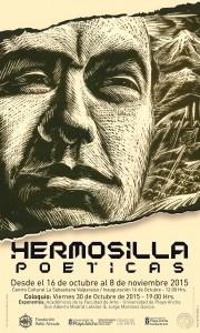 Afiche Hermosilla: Poéticas
