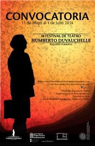Afiche 3er Festival de Teatro Humberto Duvauchelle