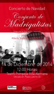 Afiche Conjunto de Madrigalistas