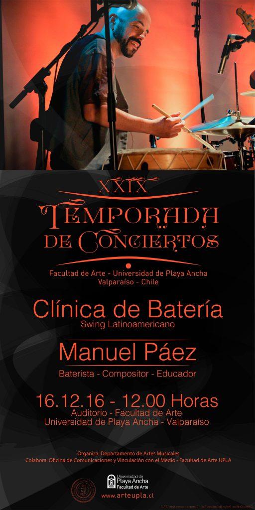 Afiche Manuel Páez