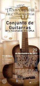 Afiche concierto Conjunto de Guitarras
