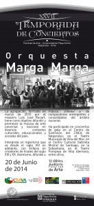 Afiche Orquesta Marga Marga