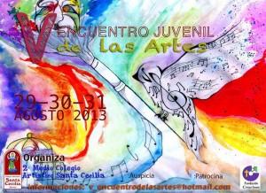 Afiche Encuentro en colegio Santa Cecilia, Osorno