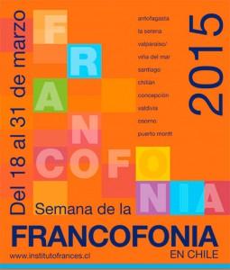 Afiche Semana de la Francofonía 2015