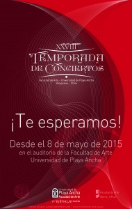 Afiche XXVIII Temporada de Conciertos