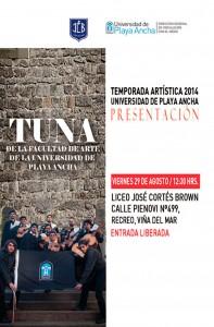 Afiche Tuna Facultad Arte