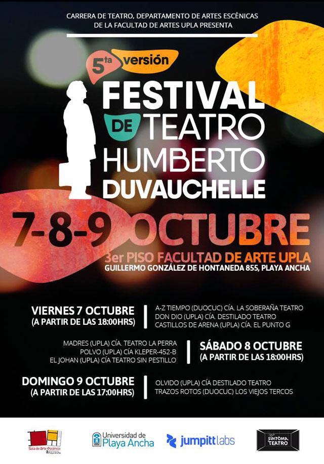 Afiche V Festival de Teatro Humberto Duvauchelle
