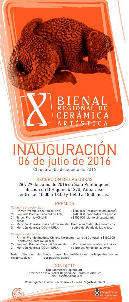 Afiche X Bienal 2016