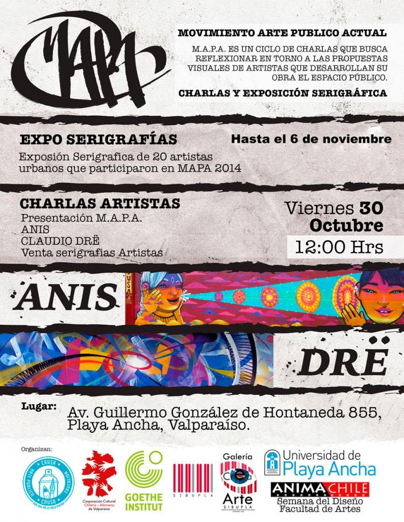 Afiche charla y expo serigrafía