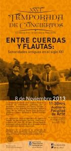 """Afiche concierto """"Entre cuerdas y flautas..."""""""