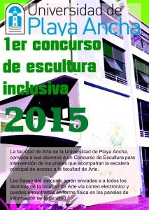 Afiche Concurso de Escultura Inclusiva