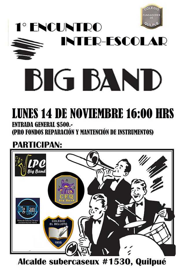 Afiche 1er Encuentro Big Band Quilpué