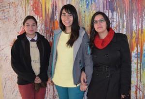 Jhas Hernández, Alexandra Gutiérrez y Cristina Valdés