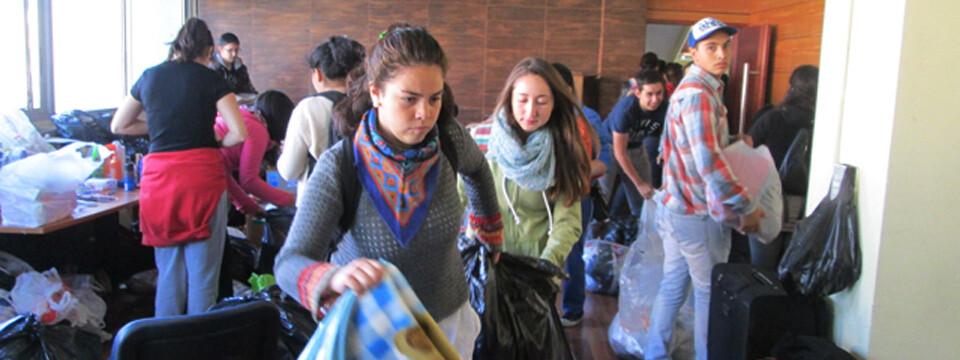 Estudiantes UPLA solidarizan ante la emergencia