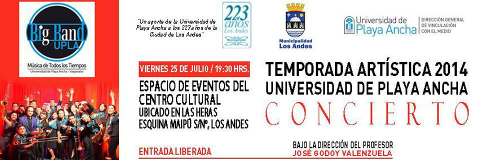 Big Band UPLA se hará presente en celebración de los 223 años de la comuna de Los Andes