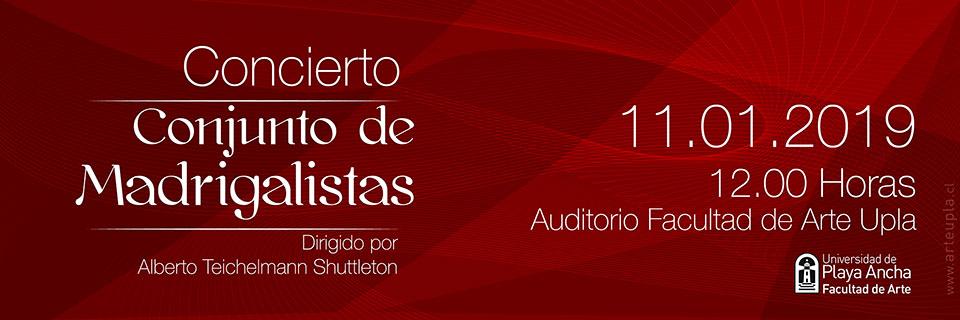 Conjunto de Madrigalistas dará concierto en la UPLA