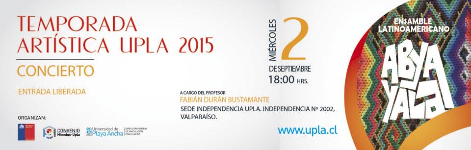 Continúa Temporada Artística UPLA en sede Independencia