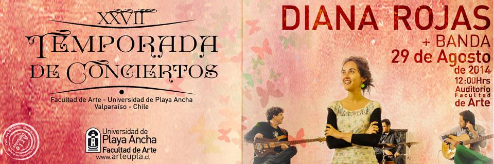 Diana Rojas y su banda debuta en Temporada de Conciertos UPLA