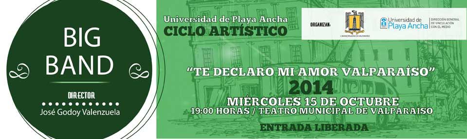 Continúa ciclo artístico en Teatro Municipal de Valparaíso con Big Band UPLA