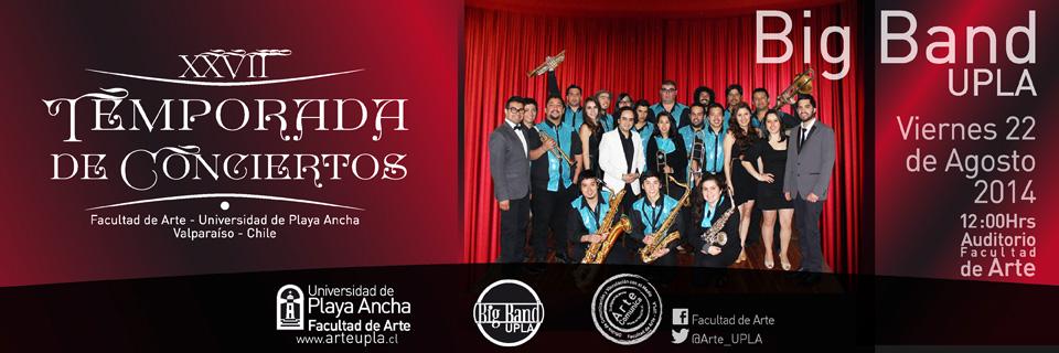 Big Band abrirá segundo semestre de la Temporada de Conciertos UPLA