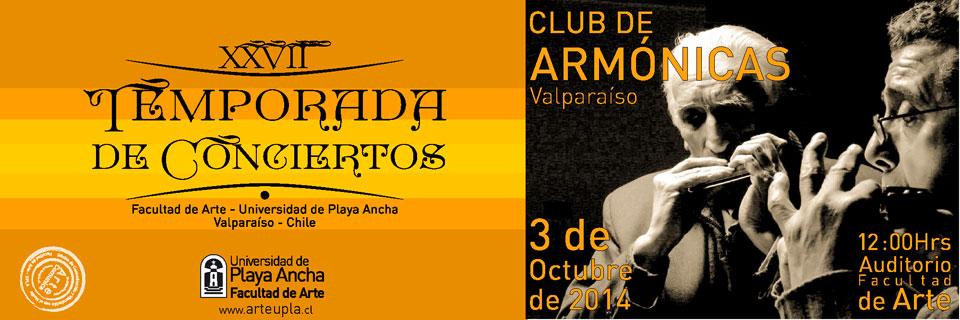 Club de Armónicas de Valparaíso se presenta en Temporada de Conciertos UPLA