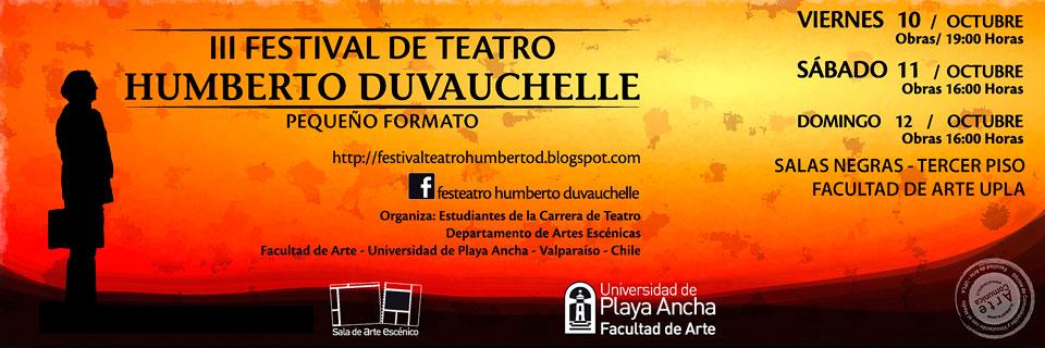 Montajes teatrales buscarán ser reconocidos en III Festival Humberto Duvauchelle