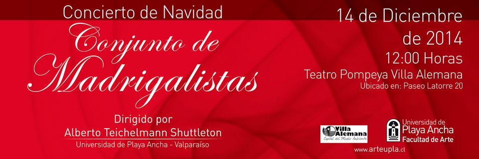 Conjunto de Madrigalistas realizará concierto de Navidad en Villa Alemana