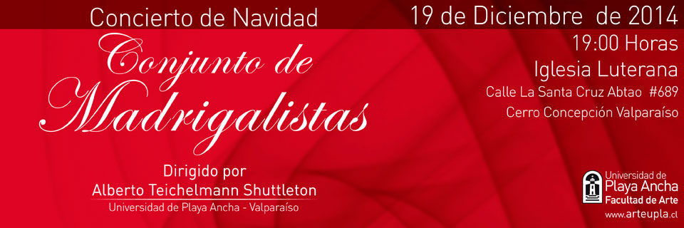 Conjunto de Madrigalistas realizará concierto de Navidad en Valparaíso