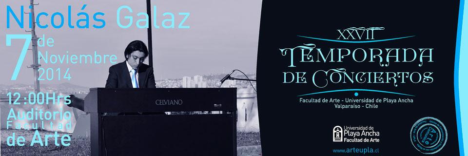 Pianista Nicolás Galaz se presenta en Temporada de Conciertos UPLA