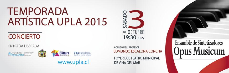 Opus Musicum se presentará en Teatro Municipal de Viña del Mar