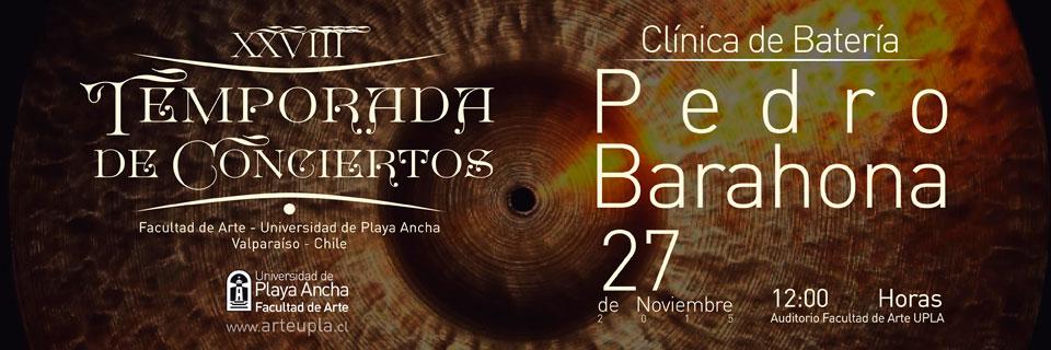 Pedro Barahona en Temporada de Conciertos UPLA