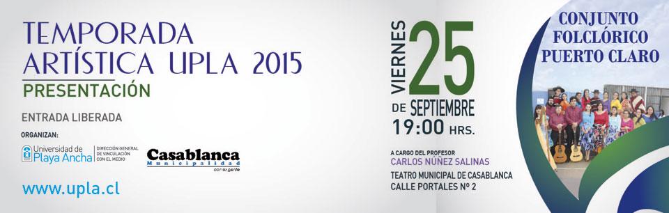 Puerto Claro se presentará en Teatro Municipal de Casablanca