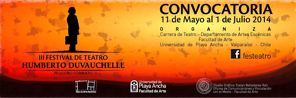 Teatro UPLA convoca a tercera edición de Festival Humberto Duvauchelle