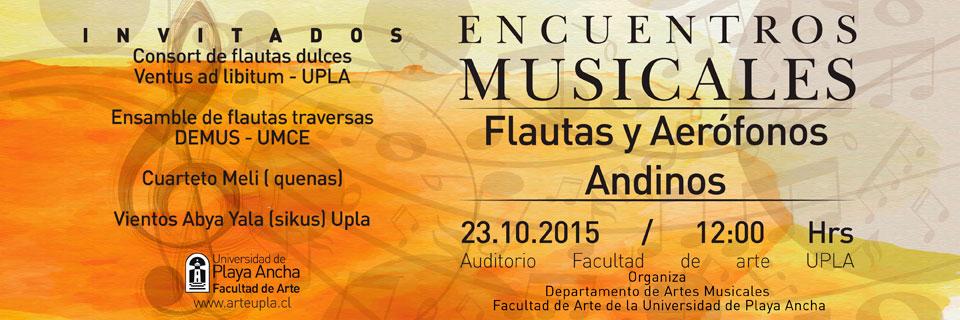 """""""Encuentros Musicales"""" se inauguran en la UPLA"""